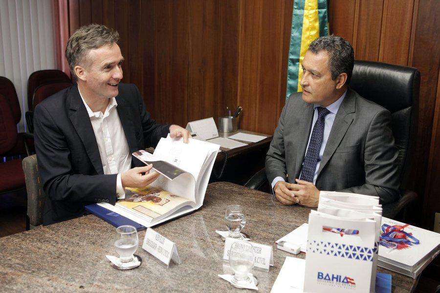 Reinuão com embaixador do Reino Unido no Brasil Fotos: Pedro Moraes/GOVBA