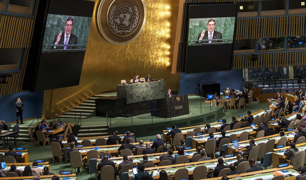 CUBA General Assembly 70th session: 40th plenary meeting Necessity of ending the economic, commercial and financial embargo imposed by the United States of America against Cuba: report of the Secretary-General A/70/120 and draft resolution A/70/L.2