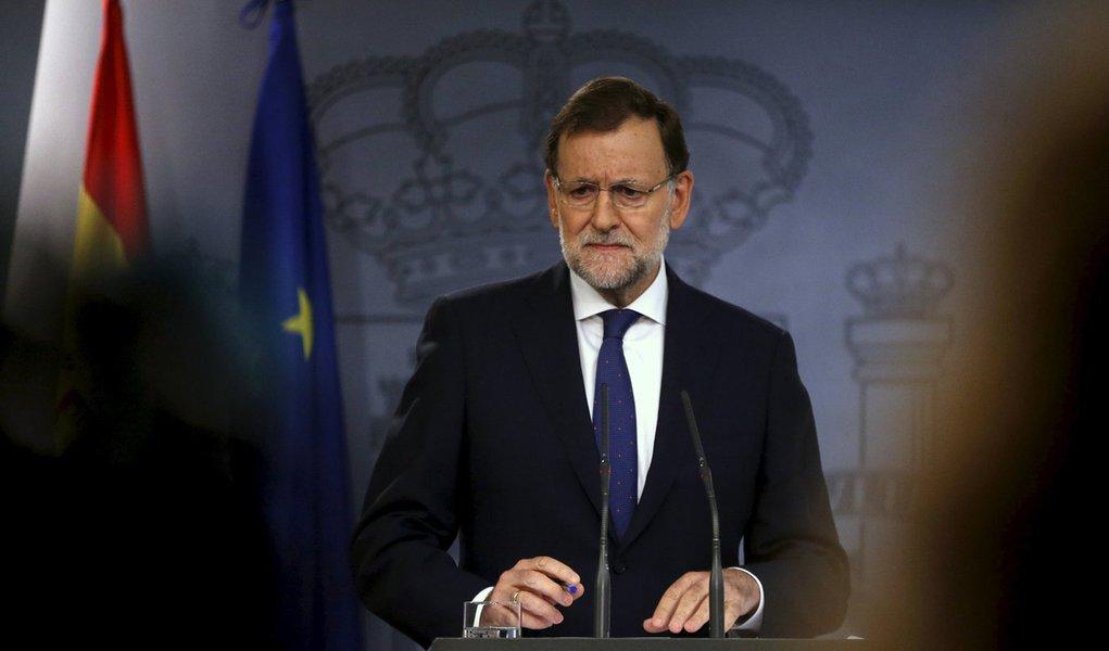 Primeiro-ministro da Espanha, Mariano Rajoy, durante evento em Madri. 28/09/2015 REUTERS/Juan Medina