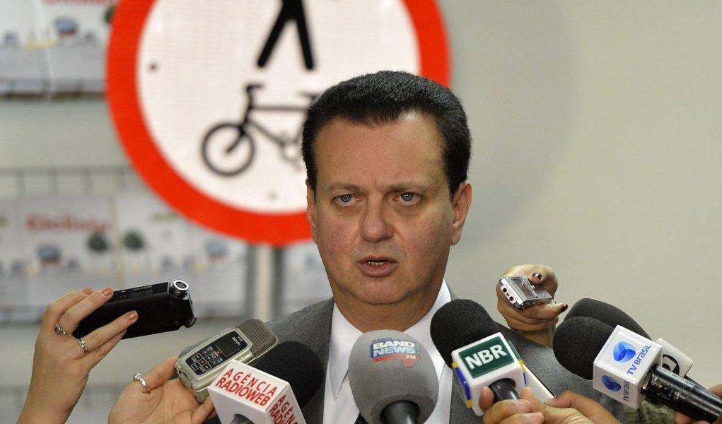 No Dia Mundial Sem Carro, o ministro Gilberto Kassab, lan�a a Cartilha do Ciclista que re�ne informa��es sobre a legisla��o, sinaliza��o, rede ciclovi�ria e regras de circula��o e seguran�a (Jos� Cruz/Ag�ncia Brasil)