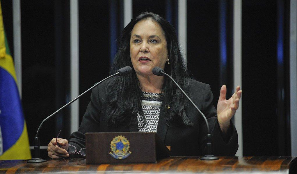 Plenário do Senado Federal durante sessão deliberativa ordinária. Em discurso, senadora Rose de Freitas (PMDB-ES). Foto: Jefferson Rudy/Agência Senado