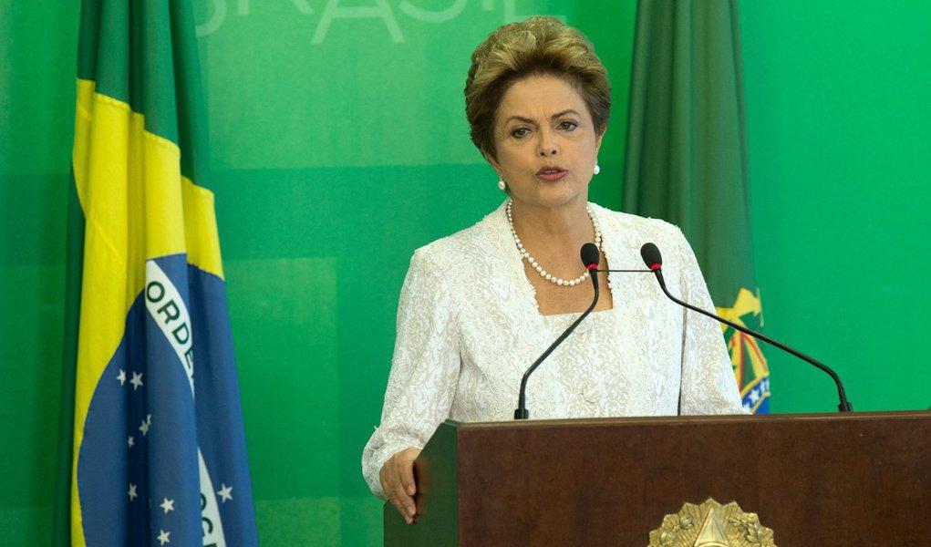 Brasília- DF 02-10-2015 Foto Lula Marques/Agência PT Presidenta, Dilma, durante declaração da reforma administrativa do governo federal.