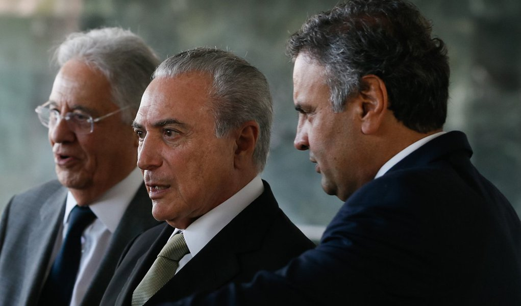 (Brasília - DF 25/11/2016) Presidente Michel Temer recebe lideranças do PSDB para almoço no Palácio da Alvorada. Foto: Beto Barata/PR