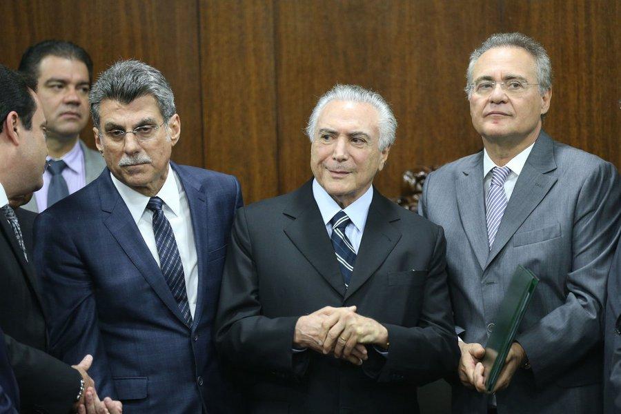 Romero Jucá, Michel Temer e Renan Calheiros
