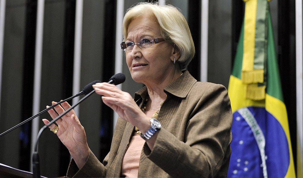 Plenário do Senado Federal durante sessão deliberativa ordinária.  Em discurso, senadora  Ana Amélia (PP-RS).   Foto: Moreira Mariz/Agência Senado