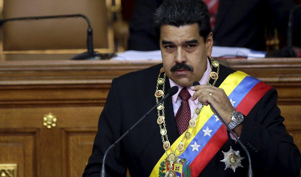 Presidente da Venezuela, Nicolás Maduro, durante encontro em Caracas. 07/07/2015 REUTERS/Jorge Dan Lopez