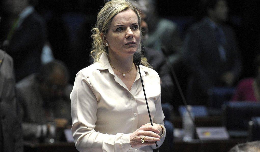 Plenário do Senado durante sessão deliberativa ordinária.  Em pronunciamento, senadora Gleisi Hoffmann (PT-PR).  Foto: Jefferson Rudy/Agência Senado