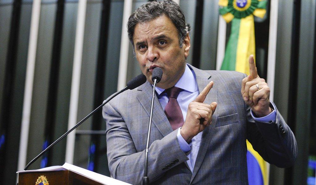Plenário do Senado Federal durante sessão deliberativa ordinária. Em discurso, senador Aécio Neves (PSDB-MG). Foto: Moreira Mariz /Agência Senado