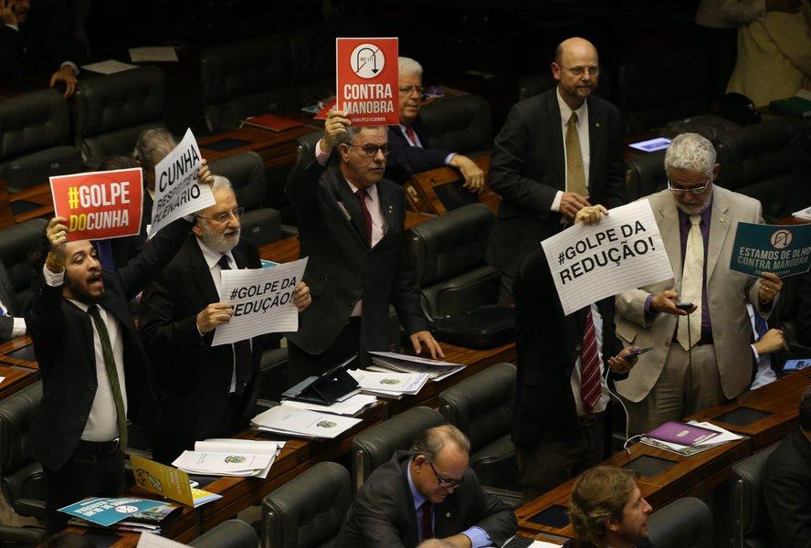 Brasília-DF 01-07-2015 plenário durante a segunda votação da mairidade. Fotos Lula Marques/ agência PT
