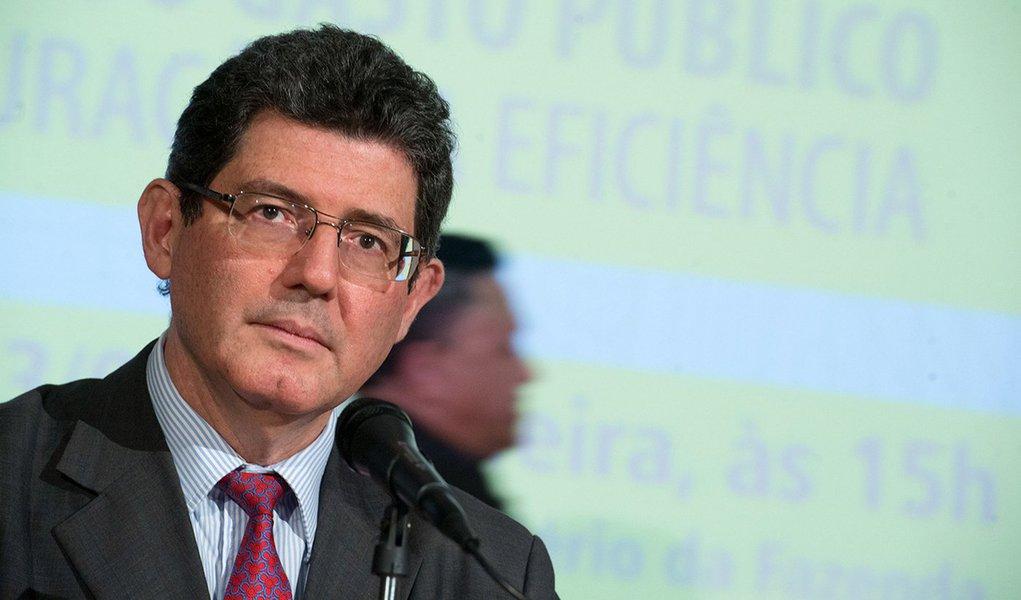 O ministro da Fazenda, Joaquim Levy, participa do lançamento do livro Avaliação da Qualidade do Gasto Público e Mensuração da Eficiência (Marcelo Camargo/Agência Brasil)