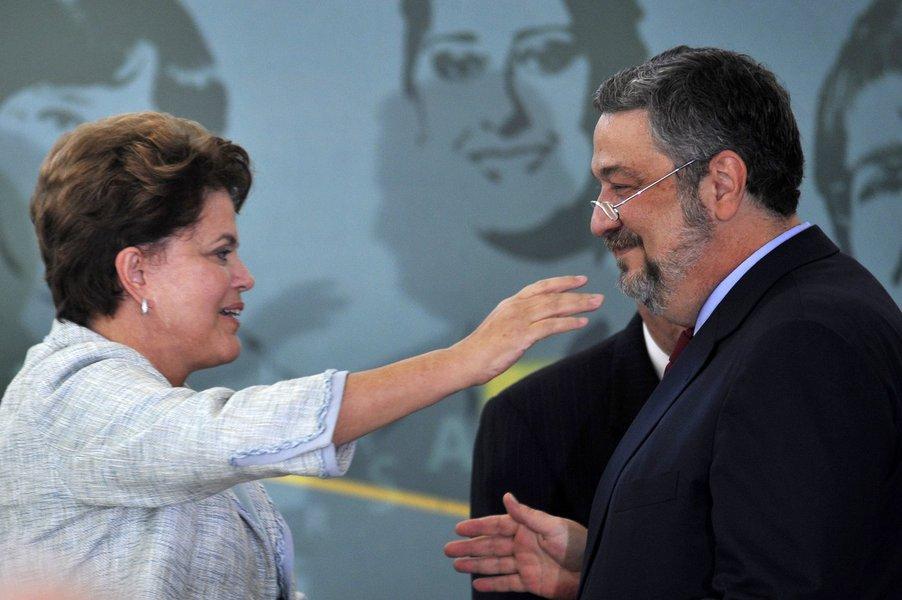 Brasília - presidenta Dilma empossa a nova ministra da Casa Civil, Gleisi Hoffmann