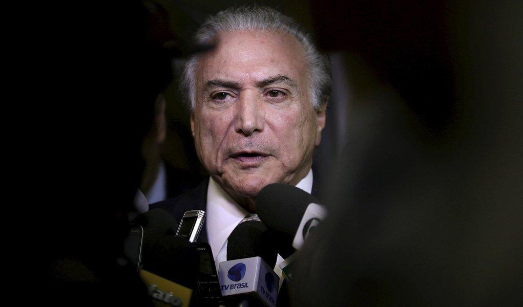 Vice-presidente e articulador político do governo, Michel Temer, durante evento em Brasília. 06/08/2015 REUTERS/Ueslei Marcelino