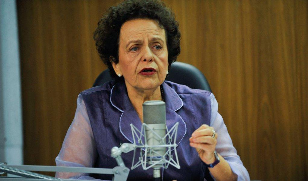 A ministra da Secretaria de Políticas para as Mulheres, Eleonora Menicucci é a entrevistada do programa Bom Dia, Ministro (Elza Fiúza/Agência Brasil)