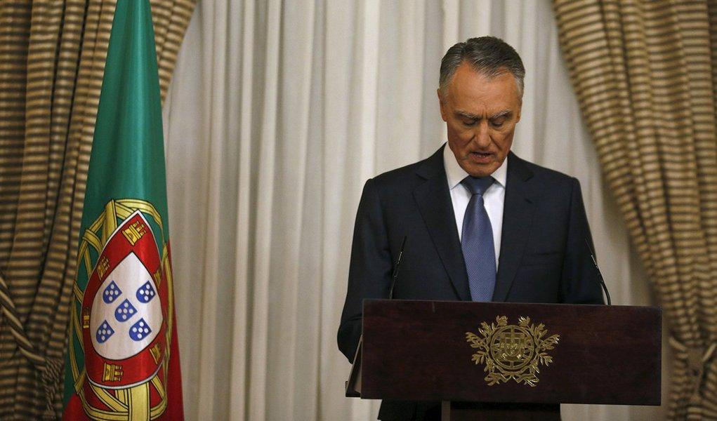 Presidente de Portugal, Aníbal Cavaco Silva, faz declaração à imprensa no Palácio de Belém, em Lisboa. 22/10/2015 REUTERS/Rafael Marchante