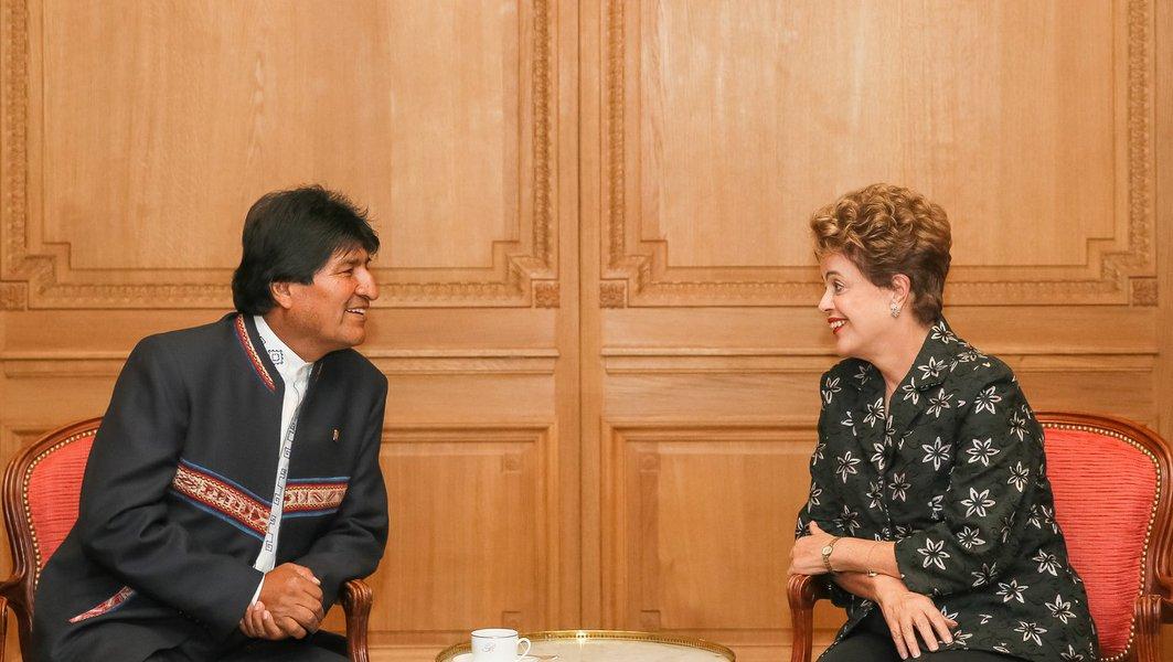 Paris - França, 29/11/2015. Presidenta Dilma Rousseff durante encontro bilateral com Presidente da Bolívia, Evo Morales. Foto: Roberto Stuckert Filho/PR