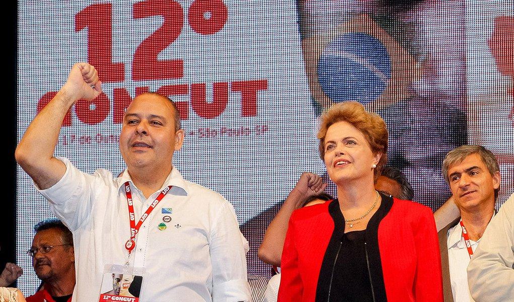 São Paulo - SP, 13/10/2015. Presidenta Dilma Rousseff, durante cerimônia de abertura do 12º Congresso Nacional da CUT - CONCUT. Foto: Roberto Stuckert Filho/PR