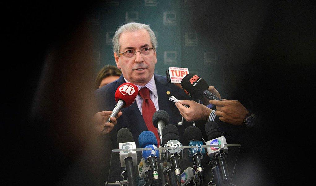 Bras�lia - O presidente da C�mara dos Deputados, Eduardo Cunha, fala � imprensa no Congresso Nacional (Jos� Cruz/Ag�ncia Brasil)