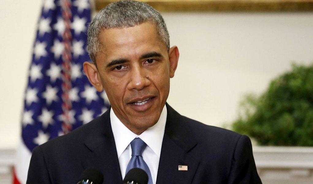 Presidente dos EUA Barack Obama faz discurso na Casa Branca. 24/6/2015. REUTERS/Jonathan Ernst