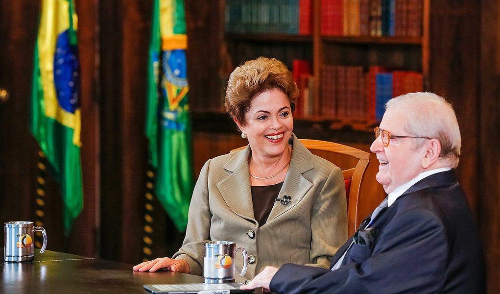 Brasília - DF, 11/06/2015. Presidenta Dilma Rousseff durante entrevista ao Jô Soares. Foto: Roberto Stuckert Filho/PR