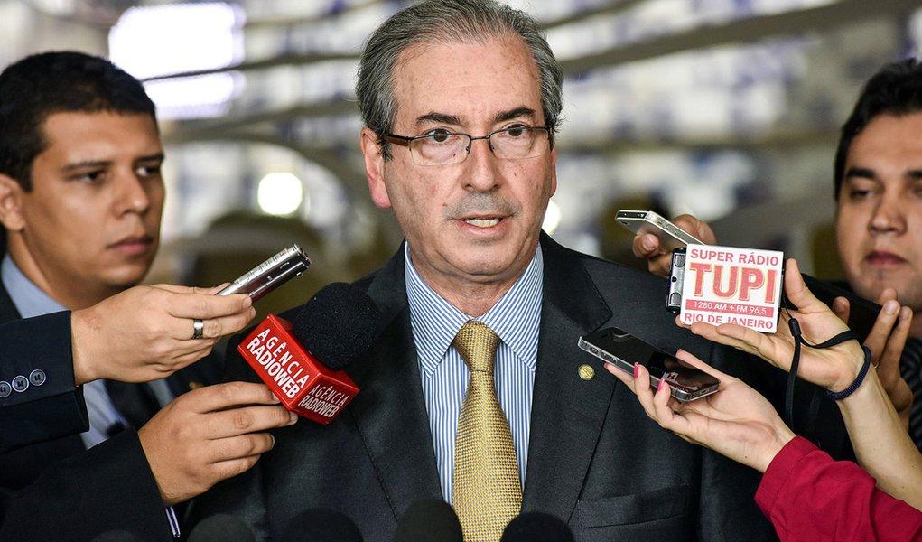 Brasília- DF- Brasil- 22/04/2015- Entrevistas- Presidente da Câmara, dep. Eduardo Cunha (PMDB-RJ) fala sobre a pauta da semana. Foto: Zeca Ribeiro/ Câmara dos Deputados