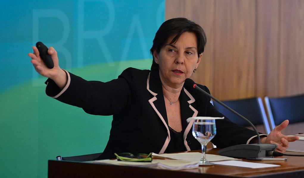 Brasília - A ministra do Desenvolvimento Social e Combate à Fome, Tereza Campello, comenta os dados da Pesquisa Nacional por Amostra de Domicílios (Pnad) 2014, divulgada pelo IBGE (Valter Campanato/Agência Brasil)