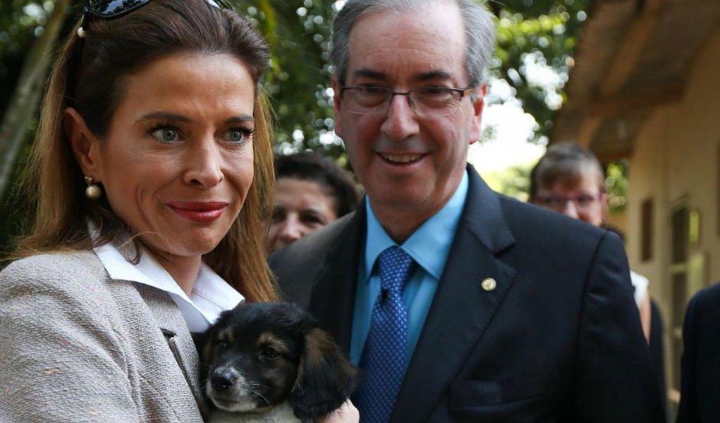 Eduardo Cunha e a mulher Claudia Cruz