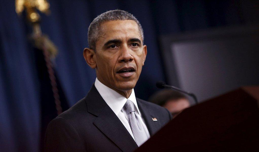 Barack Obama faz discurso no Pentágono. 14/12/2015. REUTERS/Carlos Barria
