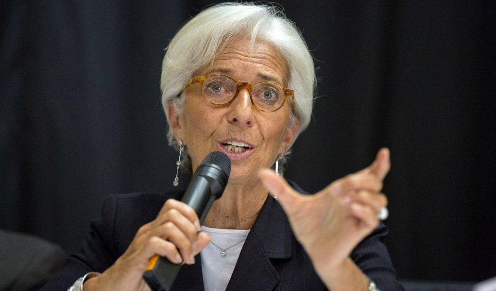 International Monetary Fund Managing Director Christine Lagarde speaks at the Monrovia City Hall Theater September 11, 201 in Monrovia, Liberia. Lagarde is on a several day visit to Liberia. IMF Staff Photo/Stephen Jaffe