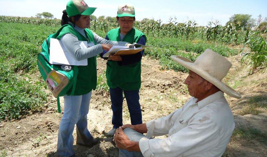 En las chacras del Bajo Piura se dio inicio al Censo nacional Agropecuario, dirigido a todos los productores.