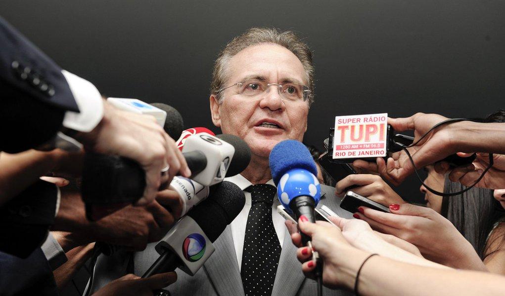 Presidente do Senado Federal senador Renan Calheiros (PMDB-AL) concede entrevista. Foto: Jonas Pereira/Agência Senado
