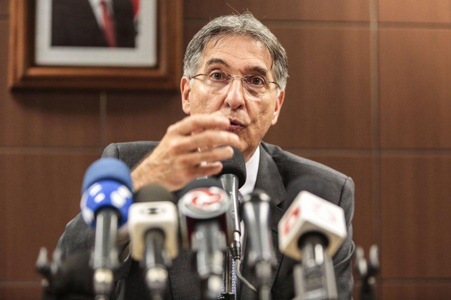 Governador Fernando Pimentel e secretários falam sobre o diagnóstico de gestão. 06-04-2015- Palácio Tiradentes Foto: Manoel Marques/imprensa-MG
