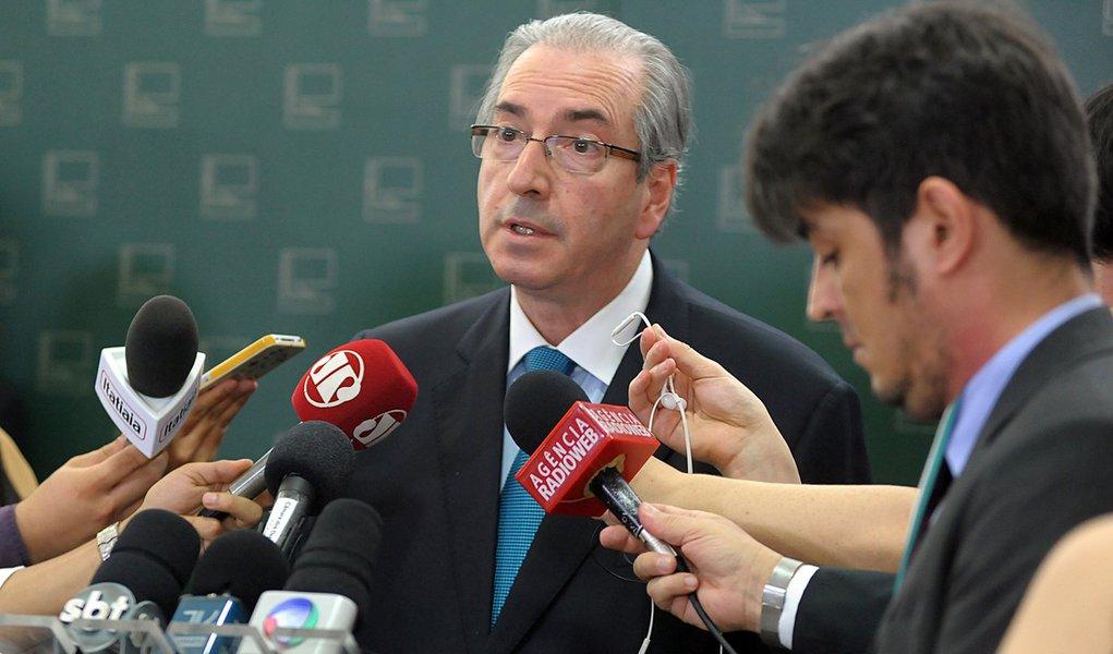 Brasília- DF- Brasil- 22/10/2015- Presidente da Câmara, dep. Eduardo Cunha (PMDB-RJ) concede entrevista. Foto: Alex Ferreira/ Câmara dos Deputados