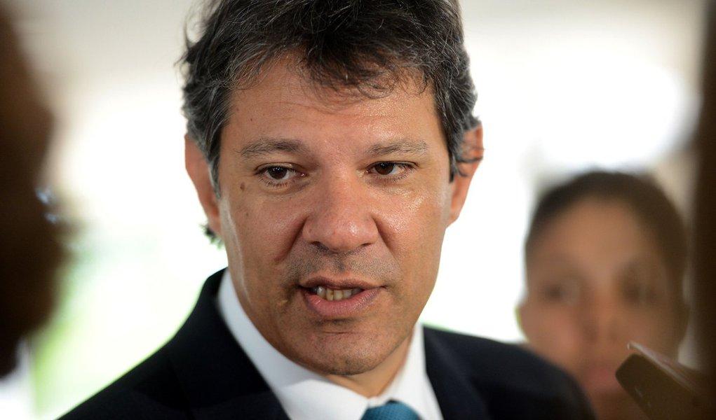 Brasília - Entrevista com o prefeito de São Paulo, Fernando Haddad sobre o encontro com o Ministro-chefe da Casa Civil, Jaques Wagner (Wilson Dias/Agência Brasil)