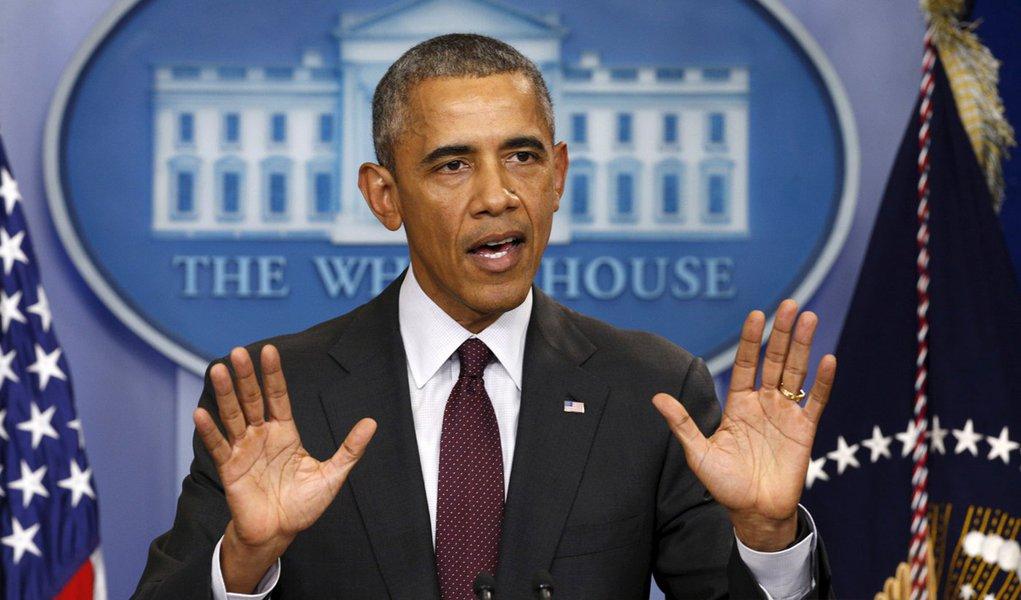 Presidente dos Estados Unidos, Barack Obama faz declaração na Casa Branca sobre tiroteio em Oregon. 01/10/2015 REUTERS/Kevin Lamarque