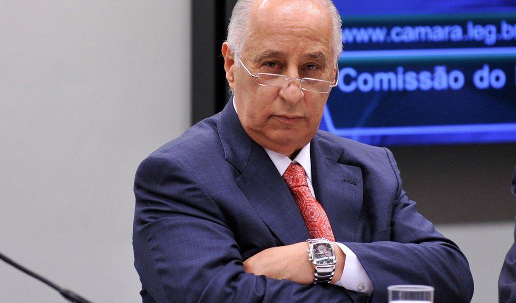 O presidente da Confedera��o Brasileira de Futebol (CBF), Marco Polo Del Nero, participa de audi�ncia na Comiss�o do Esporte da C�mara dos Deputados (Fabio Rodrigues Pozzebom/Ag�ncia Brasil)