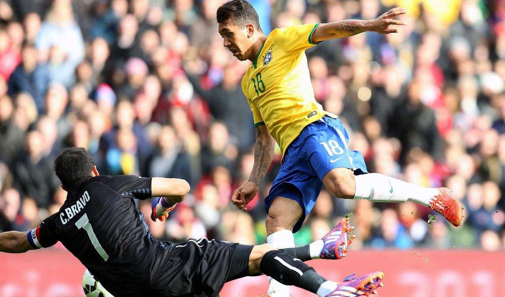 Brasil x Chile no Emirates Stadium em Londres dia 29 de março de 2015. Foto: Rafael Ribeiro