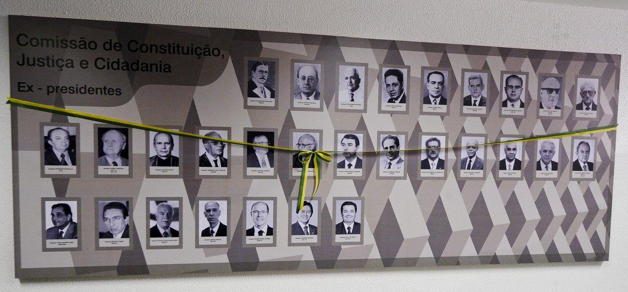 Galeria de ex-presidentes da Comiss�o de Constitui��o, Justi�a e Cidadania (CCJ).  Foto: Edilson Rodrigues/Ag�ncia Senado