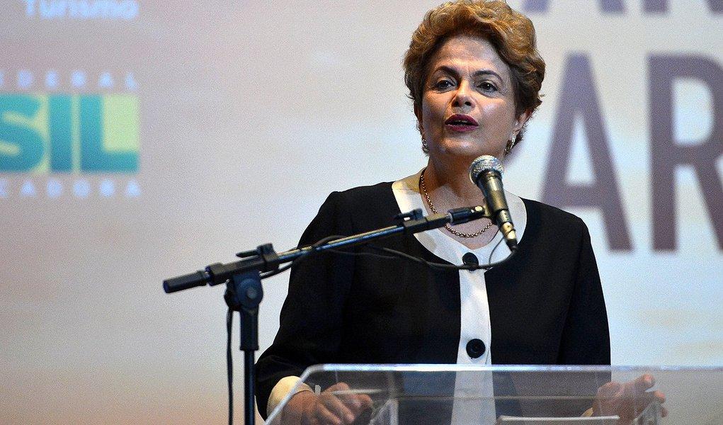 A presidente Dilma Rousseff preside a cerimônia de Lançamento do Ano Olímpico do Turismo (Antonio Cruz/Agência Brasil)