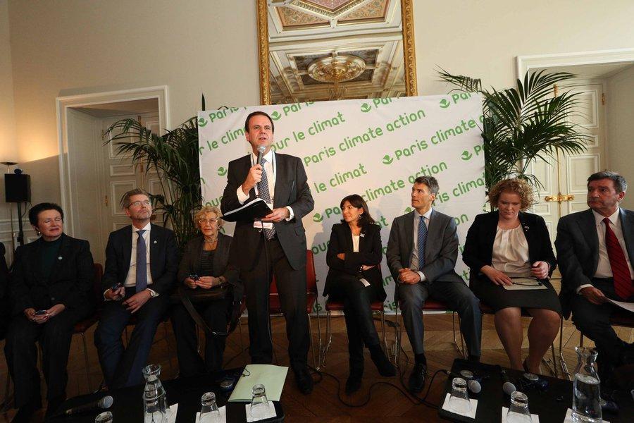 Paris- França- 03/12/2015- O prefeito Eduardo Paes na COP21