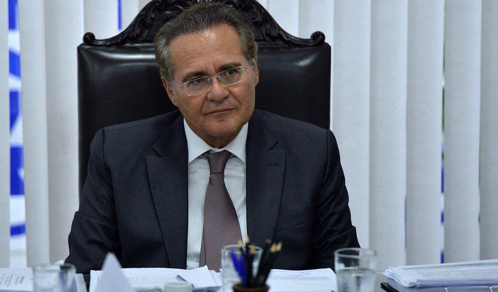 Brasília- DF- Brasil- 03/03/2015-  Senador Renan Calheiros preside reunião de líderes para discutir a pauta de votação e eleição dos presidentes das comissções da Casa (Fabio Rodrigues Pozzebom/Agência Brasil)