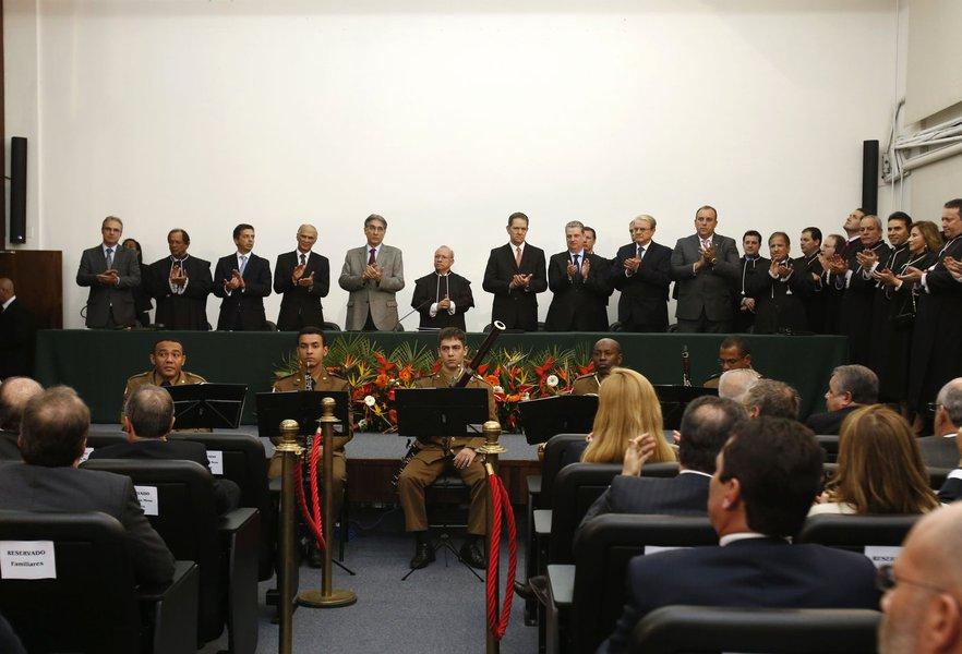 Posse do novo presidente do TRE, desembargadores Paulo Cézar Dias e Geraldo Domingos Coelho. 25-06-2015- Tribunal Regional Eleitoral. Foto: Manoel Marques/imprensa-MG