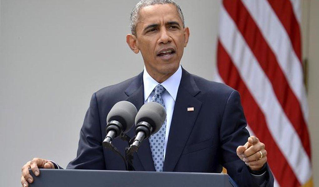 Presidente Obama faz discurso sobre Irã na Casa Branca.   REUTERS/Mike Theiler