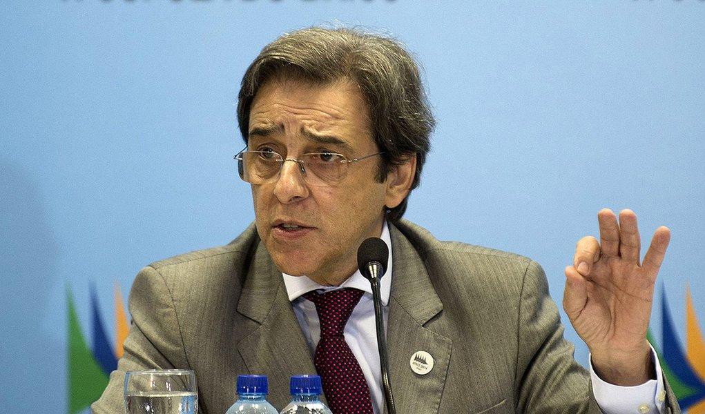 O ministro do Desenvolvimento, Indústria e Comércio Exterior (MDIC), Mauro Borges, concede entrevista na 6ª Cúpula do Brics