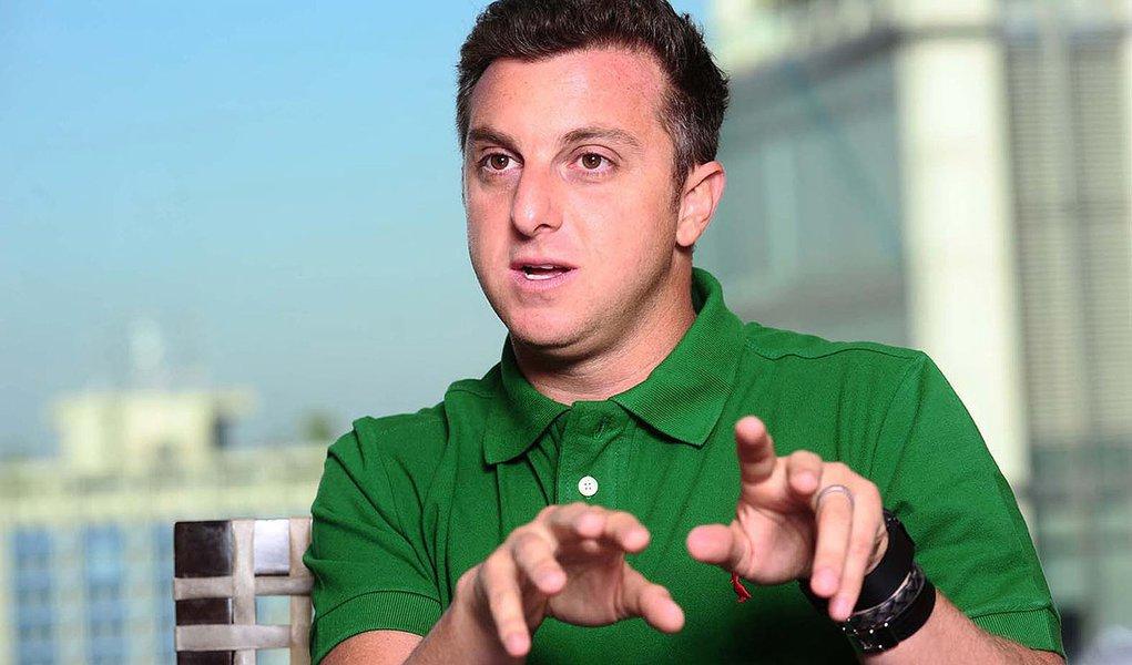 "Luciano Huck, apresentador do programa ""Caldeir""o do Huck"", da Rede Globo."