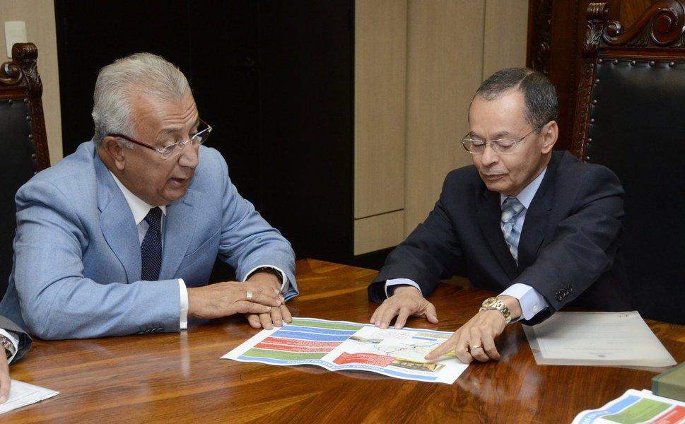 Governador Jackson Barreto  Ministro dos Transportes Sergio Passos Tarcisio Gomes de Freitas DNIT