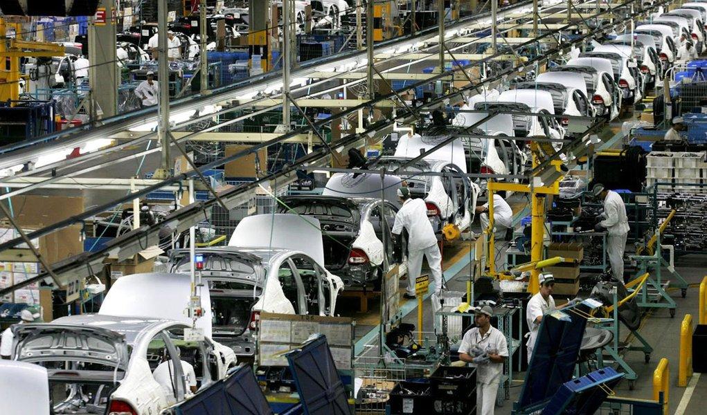 industria linha de produção