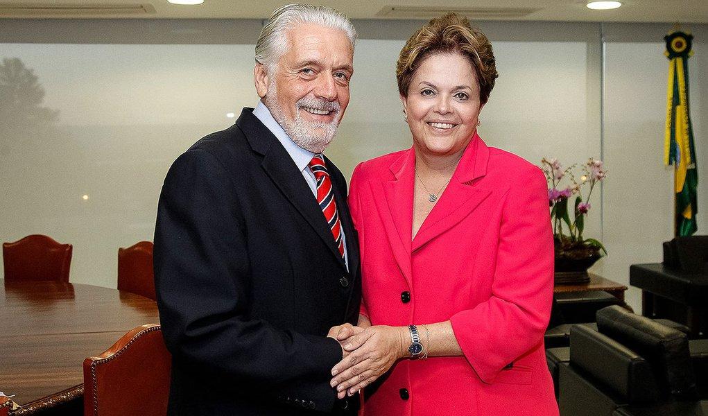 Brasília - DF, 31/07/2012. Presidenta Dilma Rousseff Jaques Wagner Governador do estado da Bahia no Palácio do Planalto. Foto: Roberto Stuckert Filho/PR.