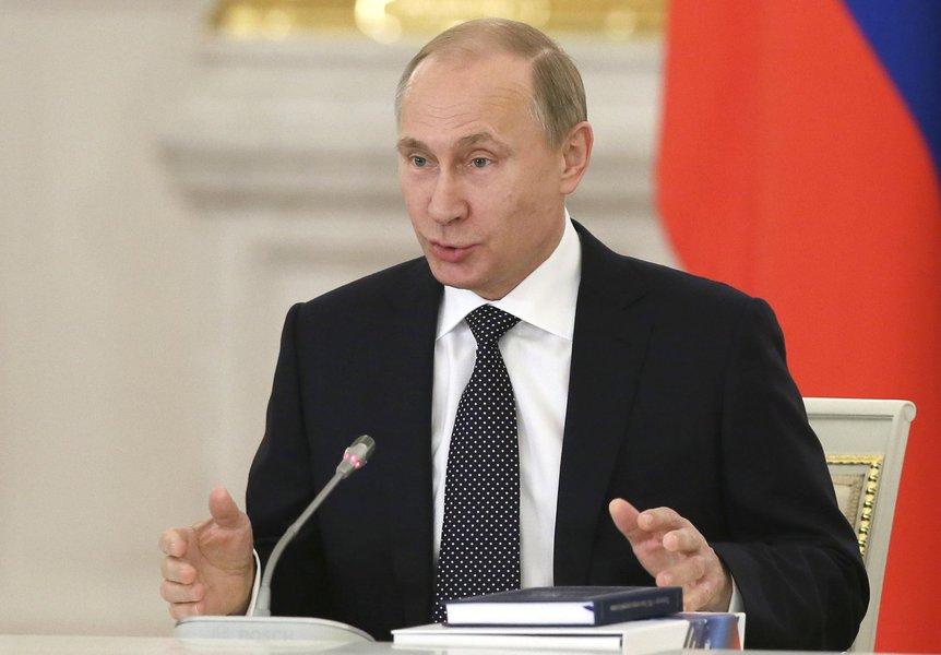 Presidente da Rússia, Vladimir Putin, no Kremlin, em Moscou. 24/12/2014 REUTERS/Sergei Ilnitsky/Pool