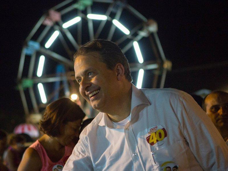 Eduardo Campos e Marina Silva visitam a ExpoCrato, feira agropecuária realizada na cidade do Crato, CE.