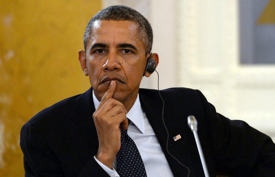 U.S. President Barack Obama listens to comments during a working session at a G-20 summit in St. Petersburg, Russia on Friday, Sept. 6, 2013. World leaders are discussing Syria's civil war at the summit but look no closer to agreeing on international mili